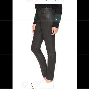 DL1961 Florence Black Coated Skinny Jeans 26